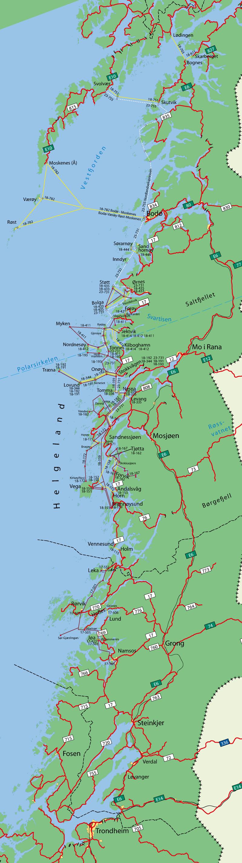 kystriksveien nordland kart Ferjeruter   bussruter   hurtigbåtruter Nordland / Helgeland  kystriksveien nordland kart